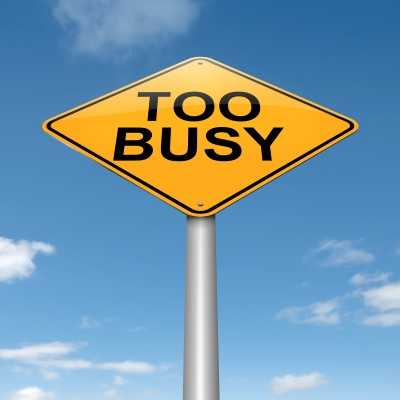 From The Desk Of Jo – I'm Too Busy!!