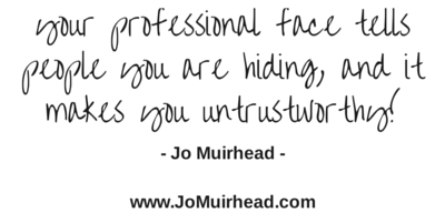 Your professional face tells people you (3)